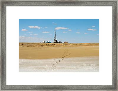 Drilling In The Desert. Framed Print by Alexandr  Malyshev