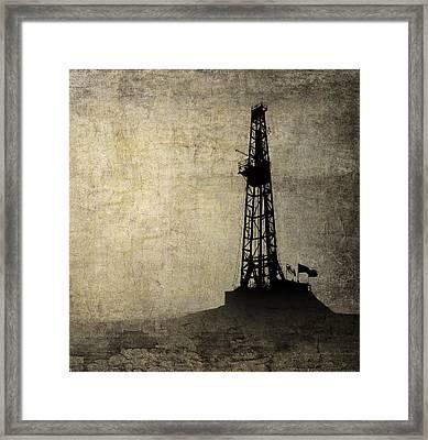 Drilling Isolation Framed Print by Daniel Hagerman