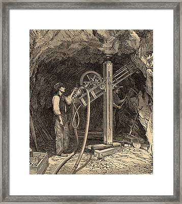 Drilling Machine With Diamond Bit Framed Print by Universal History Archive/uig