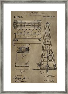 Drilling Oil Rig Patent Framed Print by Dan Sproul