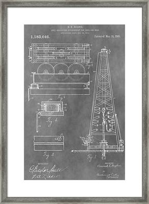 Drilling Rig Patent Framed Print by Dan Sproul