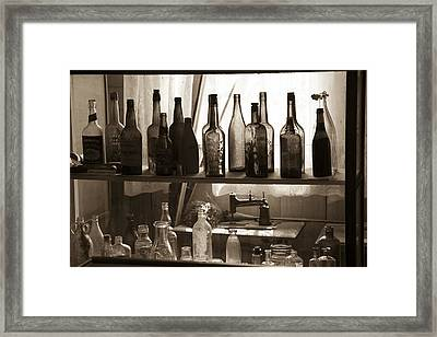 Drink And Sew Framed Print by Jim Snyder