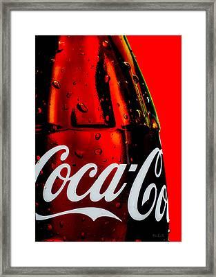 Drink Coca Cola Framed Print by Bob Orsillo