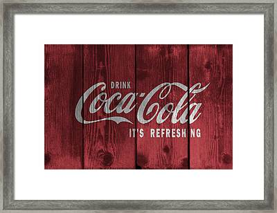 Drink Coca Cola Framed Print by Daniel Hagerman