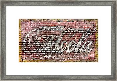 Drink Coca Cola Framed Print