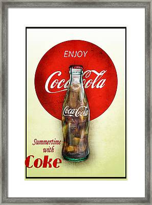 Framed Print featuring the photograph Drink Ice Cold Coke 2 by James Sage