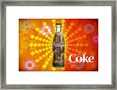 Framed Print featuring the photograph Drink Ice Cold Coke 4 by James Sage