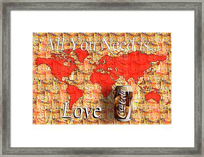 Framed Print featuring the photograph Drink Ice Cold Coke 5 by James Sage