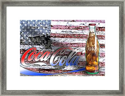 Framed Print featuring the photograph Drink Ice Cold Coke 6 by James Sage