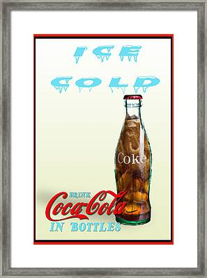 Framed Print featuring the photograph Drink Ice Cold Coke by James Sage