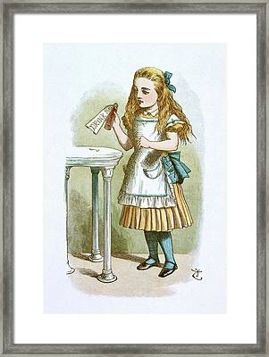 Drink Me Framed Print by British Library