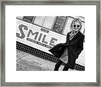 Drink Smile Framed Print