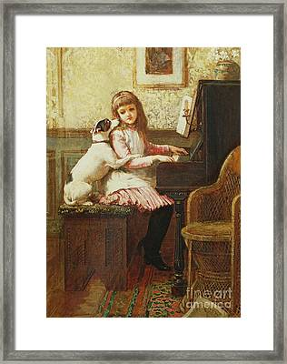 Drink To Me Only With Thine Eyes Framed Print by Charles Trevor Garland