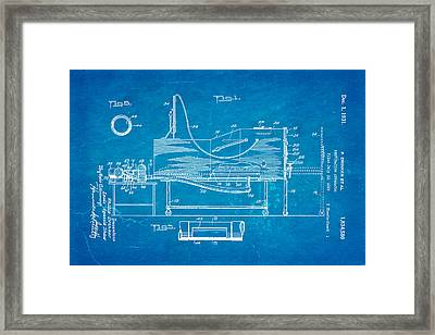 Drinker Iron Lung Patent Art 1931 Blueprint Framed Print by Ian Monk