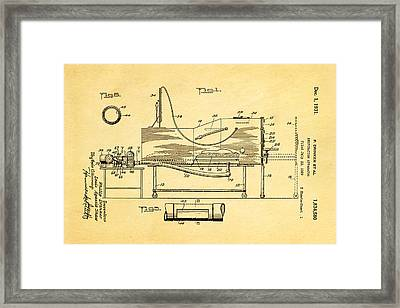 Drinker Iron Lung Patent Art 1931 Framed Print by Ian Monk