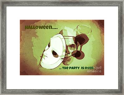 Drinking And Driving On Halloween Framed Print by John Malone