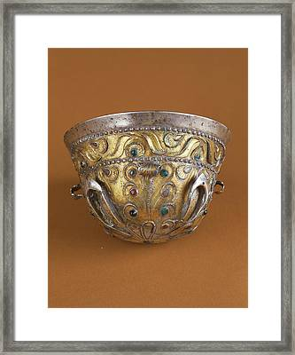 Drinking Cup Unknown Bactrian Empire 1st Century B Framed Print by Litz Collection