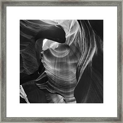 Drinking From The Fountain Antelope Canyon Navajo Nation Page Arizona Framed Print by Silvio Ligutti