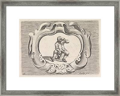 Drinking Peasant, Pieter Nolpe Framed Print by Pieter Nolpe And Pieter Jansz. Quast