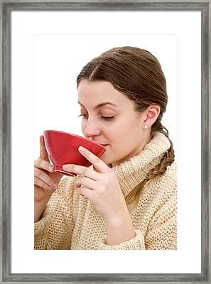 Drinking Soup Framed Print