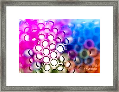 Drinking Straws 1 Framed Print by Jane Rix