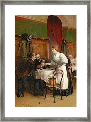Drinking Their Health Framed Print by Hans August Lasser