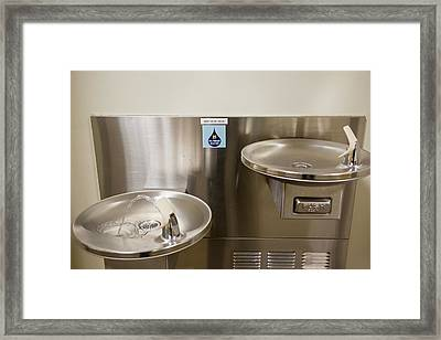 Drinking Water Filtration Sign Framed Print by Jim West