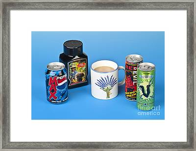 Drinks Containing Caffeine Framed Print