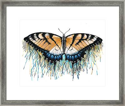 Drip-dry Beauty Framed Print by Danielle Trudeau