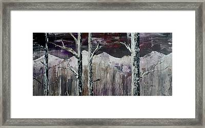Dripping Aspen Framed Print by Chad Rice