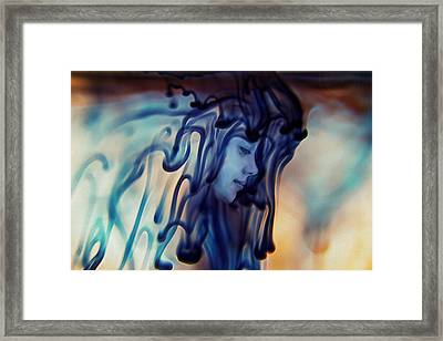 Dripping Existence Framed Print