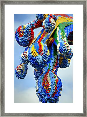 Dripping Lego Paint Framed Print