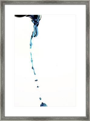 Dripping Liquid Framed Print by Bernard Jaubert