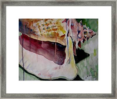 Dripping Shell Framed Print