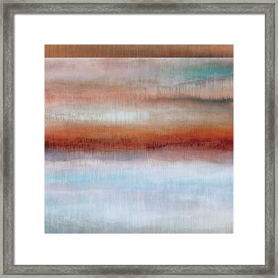 Dripscape 9 - 5 Framed Print by Cora Niele