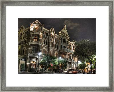 Driskill Hotel Framed Print by Jane Linders