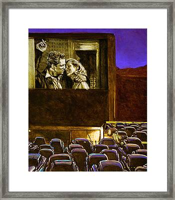 Drive In Framed Print by Charles Collins