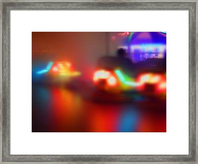 Drive In Framed Print by Charles Stuart
