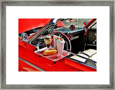 Drive-in Diner Framed Print