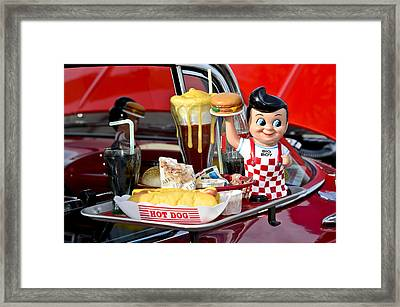 Drive-in Food Classic Framed Print