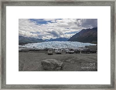 Drive In Glacier Framed Print