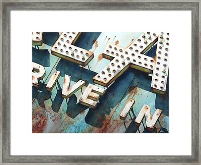 Drive In Framed Print by Greg and Linda Halom