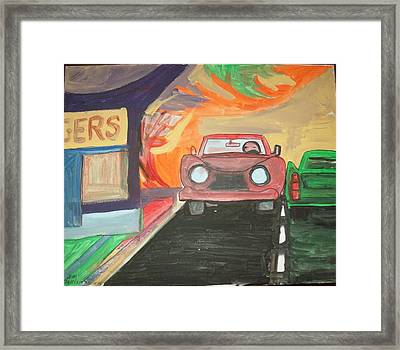 Drive In  Framed Print by James Christiansen
