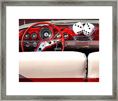 Drive-in Lounge - 1960 Chevy Framed Print