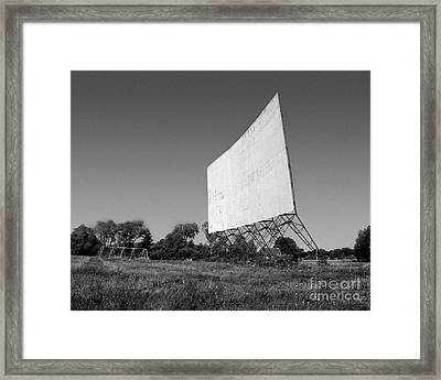 Drive In Theater Framed Print