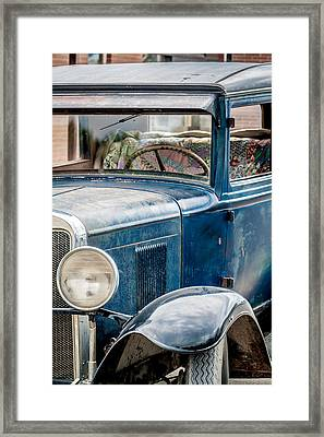 Drive Into The Past With A Chevy Framed Print by Dawn Romine