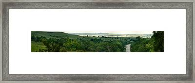 Drive The Flint Hills Framed Print