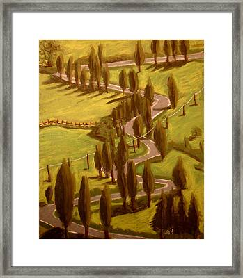 Drive Through Italy Framed Print