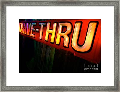 Drive Thru Framed Print