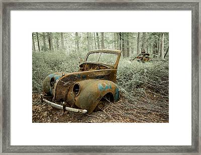 Drive To The Past Framed Print by Sara Hudock
